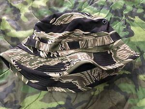 6e986ed9cc4 58 cm Repro Vietnam John Wayne Tiger Stripe Short Brimmed Boonie hat ...