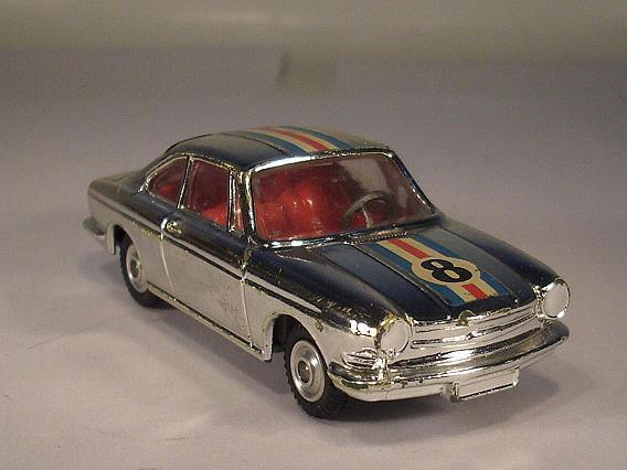 Corgi toys 315 Simca 1000 Coupe cromo número inicial 8