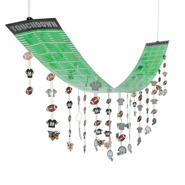 FOOTBALL Superbowl Party Decoration Dangling Touchdown Field CEILING COVER