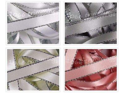 Berisfords Shade 9790 Pearl Double Satin Ribbon 3//7//10//15//25//35//50mm Width