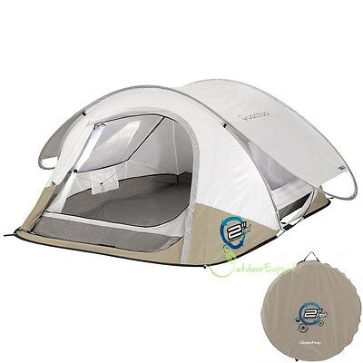 Quechua 2 SECONDS III Quick Pop Up Three 3 Person Tent Camping Hiking Family Air