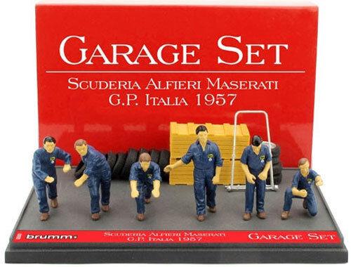 Brumm Garage Set - Maserati Italian GP 1957 1 43 Scale