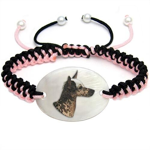 Inca Hairless Dog Mother Of Pearl Natural Shell Adjustable Knot Bracelet BS242