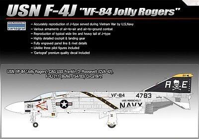 Academy Plastic Model kit 1/48 USN F-4J VF-84 Jolly Rogers Cartograf Decal 12305