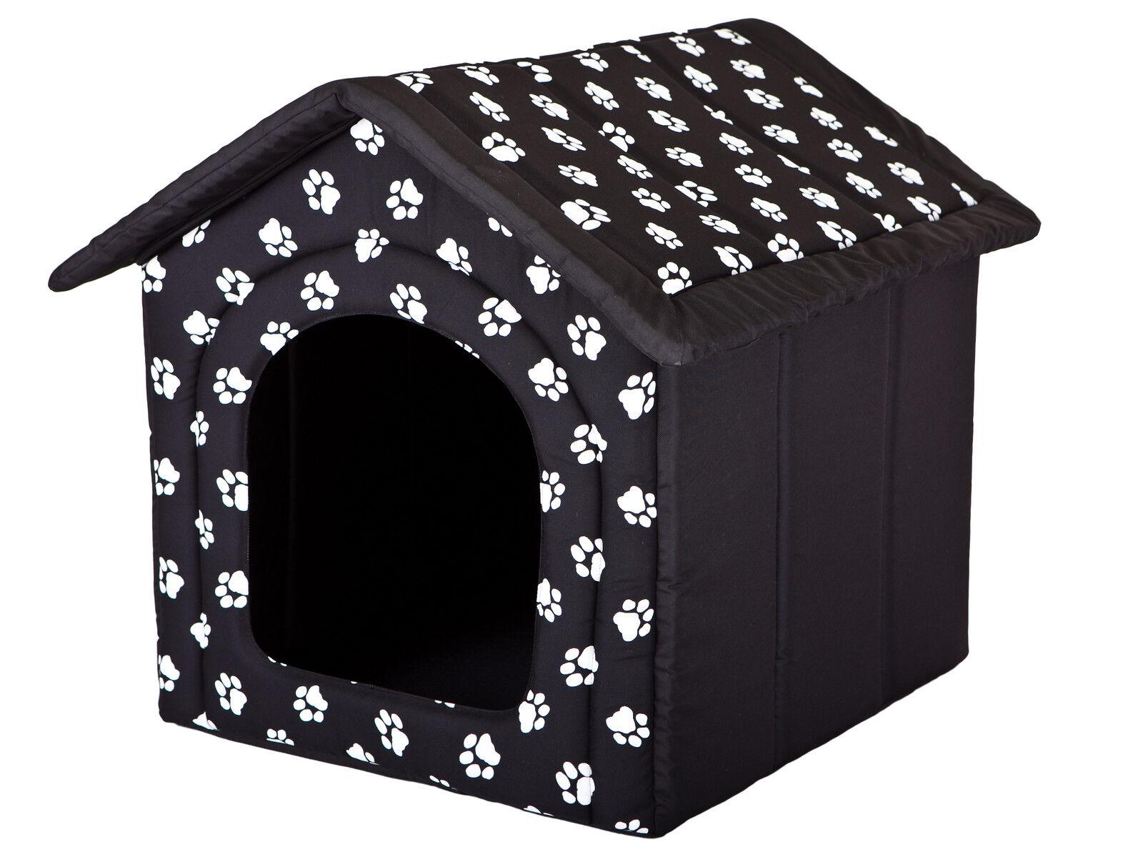 Cani grotta Hobbydog cani casa Cuccia Nero con zampa r3  52 x 46 cm