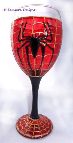 Spider-man Marvel Comic Book Wine Glass Gift Geek Goth Spider