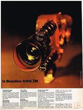 PUBLICITE ADVERTISING 105  1970  La caméra BEAULIEU  4008 ZM zooming éléctrique
