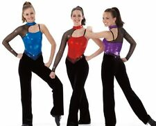 Lets Go Dance Costume RED Jumpsuit Tap Unitard Catsuit Clearance Child Small