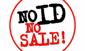 No Id No Sale It Is Illegal To Sell Tobacco Alcohol Sign