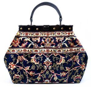 c65423637d Caricamento dell'immagine in corso Piccole-stile-Vittoriano-Mary-Poppins- Tappeto-borsa-NUOVO