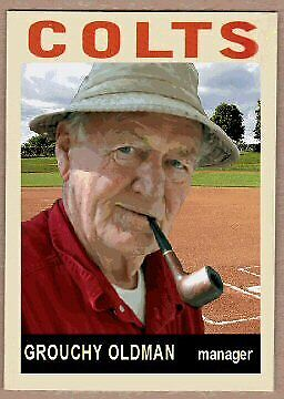 Grouchy Old Man Baseball Cards