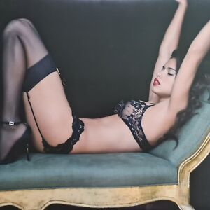 "Authentic Victoria Secret Adriana Lima Poster 21""x24"" Cardboard Box (2"" wide)"