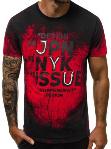 T-Shirt Kurzarm Shirt Mit Motiv Rundhals Mit Aufdruck Herren OZONEE JS//SS100636