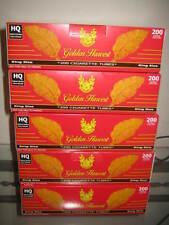 Golden Harvest Red  King Size Cigarette Tubes 5 Boxes (Full Flavor) 1000 cig