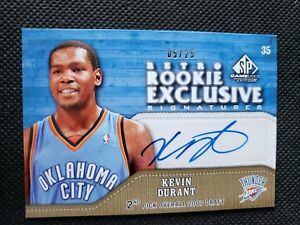 14fc2d74225 KEVIN DURANT 2009-10 UPPER DECK SP GAME USED AUTO RETRO ROOKIE ...