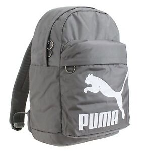 Image is loading PUMA-Originals-Backpack-Bags-Sports-Gray-Unisex-Casual- dab6be6cd7ef5