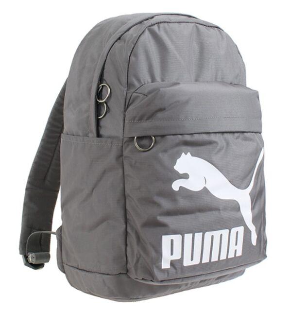 ba3fdfefdbf2 PUMA Originals Backpack Bags Sports Gray Unisex Casual School GYM Bag  07479906