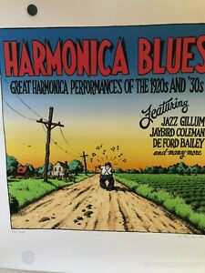 R-CRUMB-HARMONICA-BLUES-LIMITED-EDITION-ART-PRINT-NUMBERED-SIGNED-ARTIST-PROOF