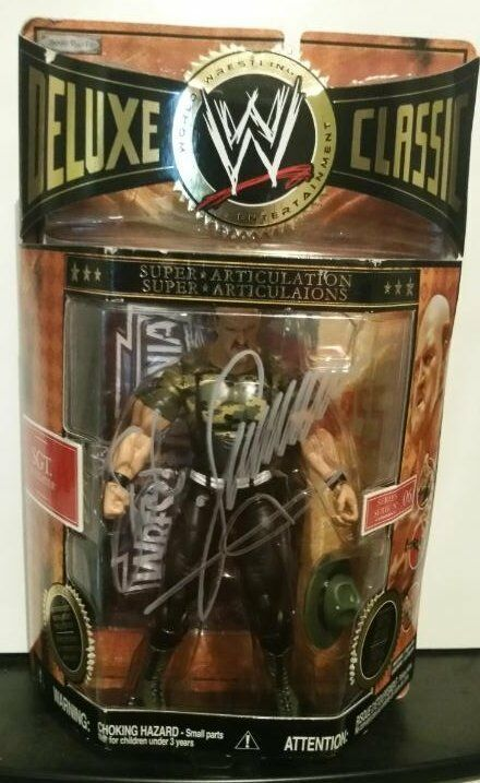Sgt. Slaughter Autographed Signed Jakks WWE Classic Superstars series 6 - w COA