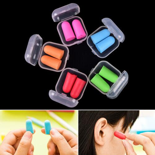 2set//4pcs Memory Foam Soft Earplugs Case Hearing Protection Ear Plugs SleepFDCA
