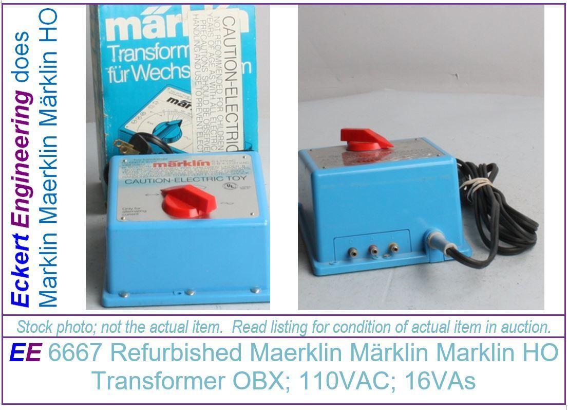 EE 6667A LikeNew Marklin Maerklin Märklin HO 16 Watt Transformer LN Condition