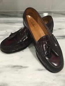 88c9a2f37fa COLE HAAN Mens Dress Shoes Dark Burgundy Casual Slip On Tassel ...
