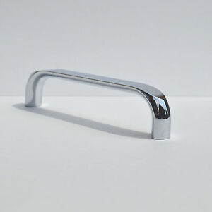 Bügelgriff Metall 128mm Chrom glänzend Möbelgriff Schubladengriff Türgriff Griff