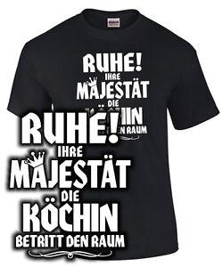 IHRE-MAJESTAT-DIE-KOCHIN-T-Shirt-Koch-Spruch-lustig-Mutter-Mama-Geschenk-Beruf