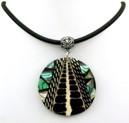 Handmade Coquille d/'Haliotide Cône Shell Pendentif Perles Cordon Collier Bijoux BA305