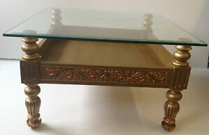 Image Is Loading Chiniot Hand Carved Coffee Table Glass Coffee Table