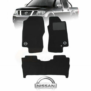 NISSAN-NAVARA-D40-ST-X-Custom-Made-Floor-Mats-F-R-STX-OCT-2005-to-FEB-2010-Charc