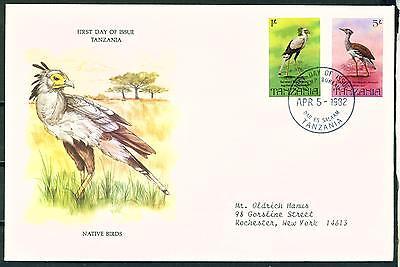 Animal Kingdom Stamps Tanzania Native Birds Fdc 1982 Reliable Performance
