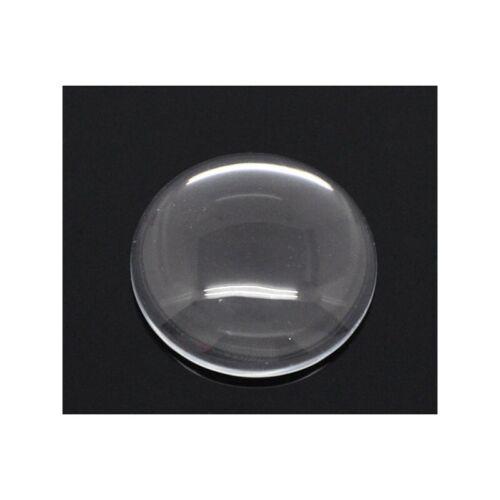10 Grand cabochons dômes rond transparent 30 mm