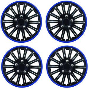 Set of 4 Wheel Trims/ /Black//Blue