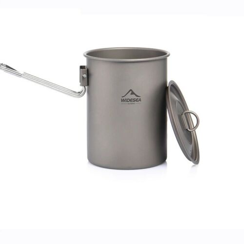 Details about  /Widesea Camping Cup Mug Titanium 900ml Outdoor Camping Hiking Mug Fordable Handl