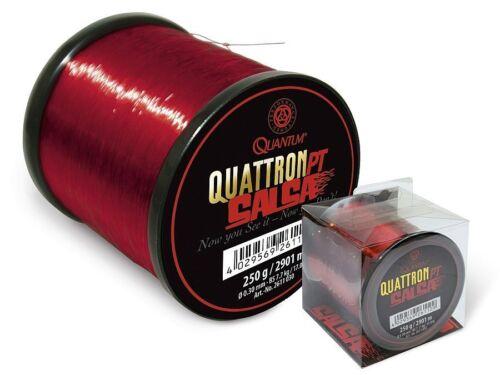 QUANTUM Quattron Salsa 2131m 0,35mm 0,25mm red monofilament line 3000m
