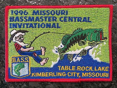 Rare Vintage Bassmaster Tournament Patch 1997 Missouri Central Invitational