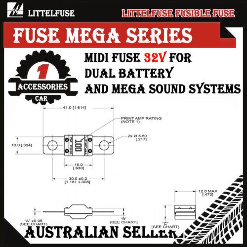 1pcs 125A AMP MIDI FUSES FOR DUAL BATTERY AND MEGA SOUND SYSTEMS AU STOCK OZ