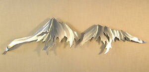 Image Is Loading Mountain Range Rocky Mountains Metal Wall Art Home
