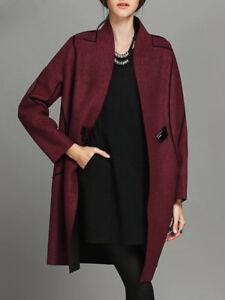 Sleeve Long Nwt Coat Color Burgundy 5903 xUqHzEnaw
