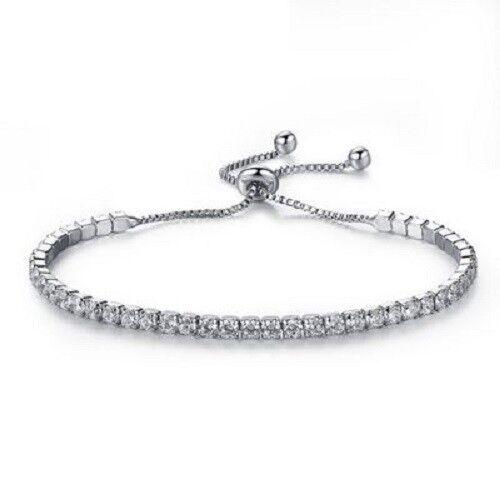 Rhinestone sliver plated Bracelets drawstring fast shipping Linzy  Au seller