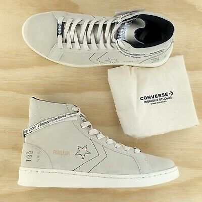 Converse x Midnight Studios Pro Leather High Top Off White Sneakers 165630C Size | eBay