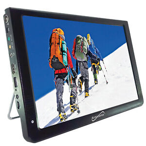 """12"""" LED Portable Rechargeable TV W/ Remote HDMI Car AC/DC USB AVI Video Player"""