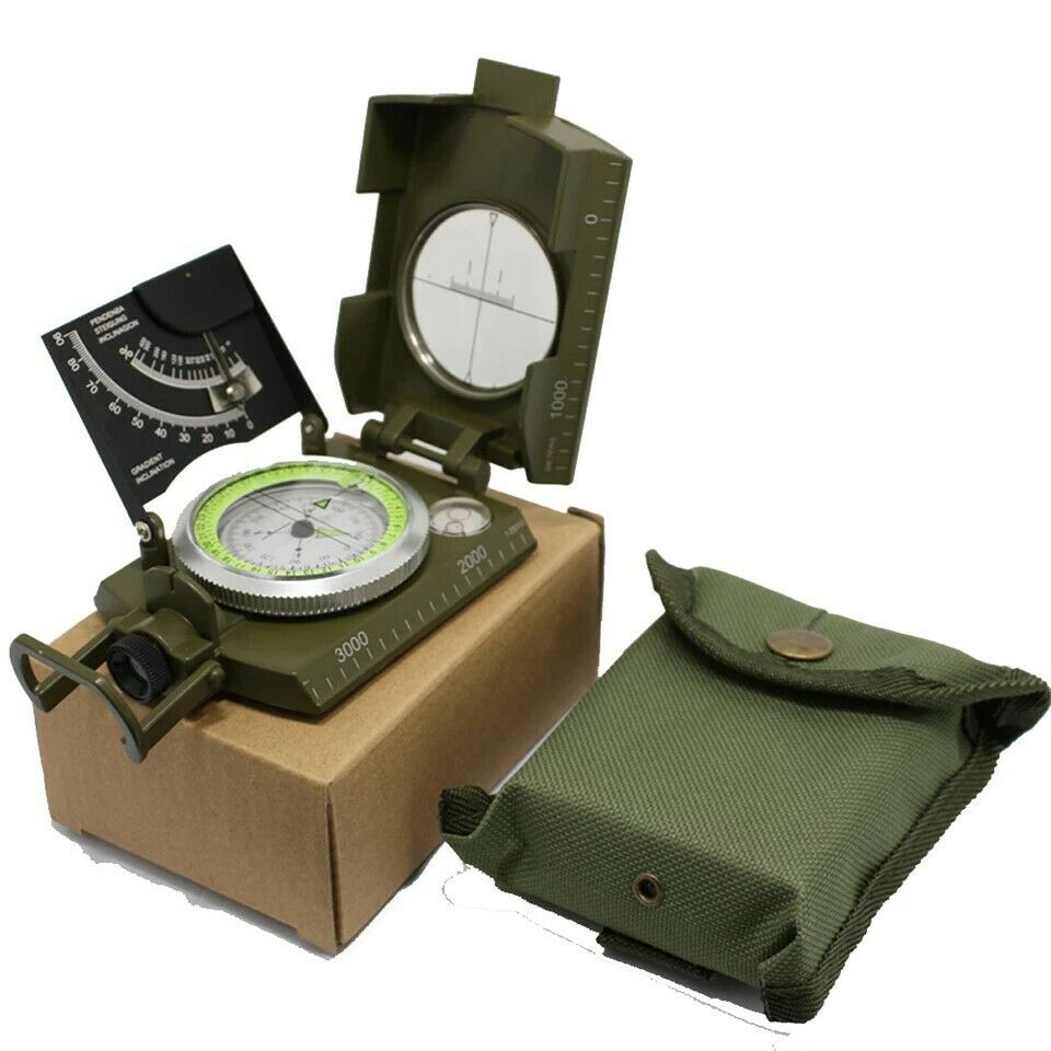 Tough Military Compass Army Green  With Clinometer  floor price