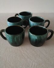 Blue Mountain Pottery Set of 5 Cups Mugs BMP Canada