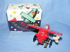 VINTAGE Old tin plate toy aeroplano formazione piano Orologio concludere BOXED