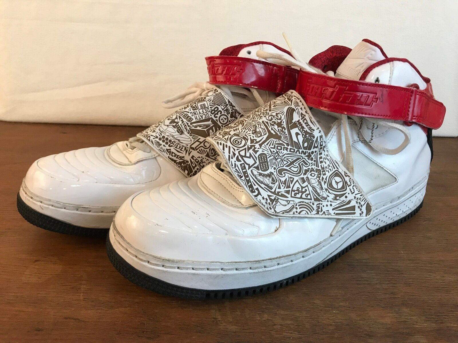 Nike Air Jordan AJF 20 2009 White Black Varsity Red Mens Size 15 331823 101