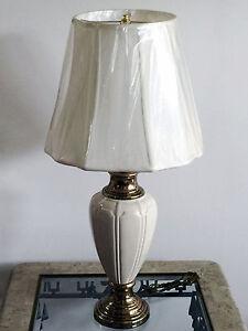 Vintage berman off white ceramic antique polished brass table image is loading vintage berman off white ceramic amp antique polished mozeypictures Images