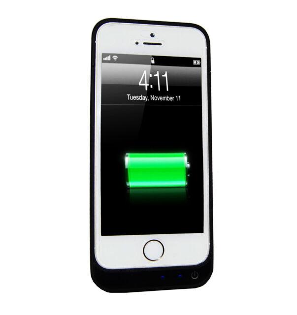 Power Pack Zusatzakku für Apple iPhone5 5S 5SE Bumper Cover Hülle Schale+ Folie