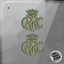 AUFKLEBER GOODWOOD ROAD RENNSPORT CLUB CROWN GOLD & GRÜN VINYL DECAL